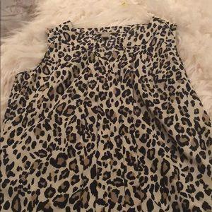 Banana Republic leopard print blouse